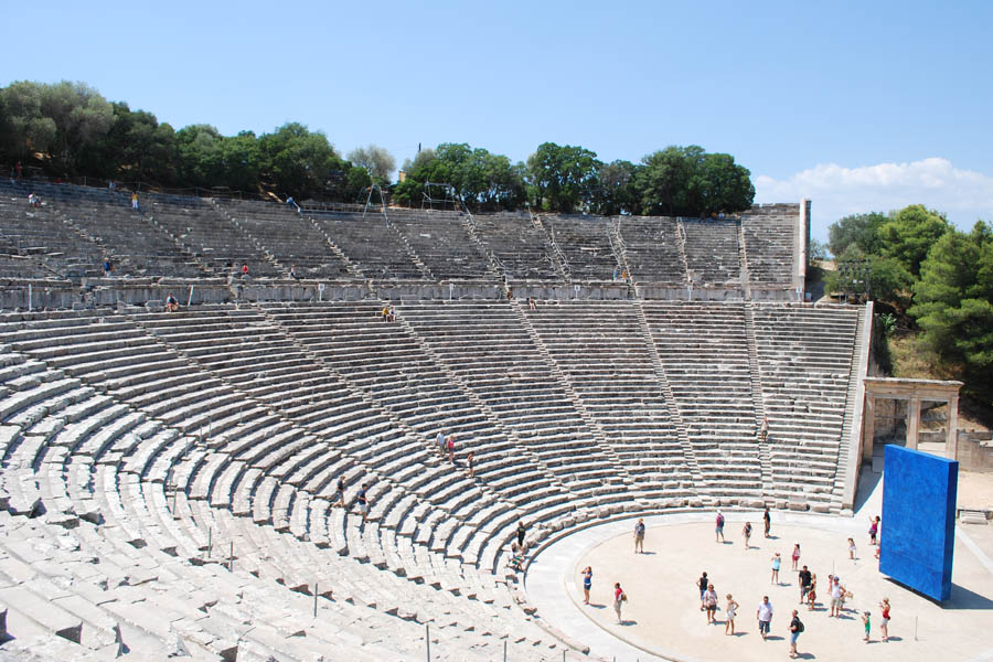 Epidaurus theatre from above