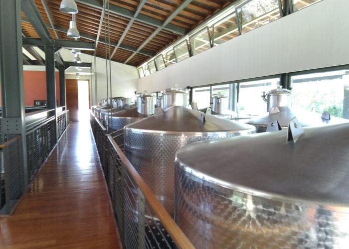 Barels inside a winery