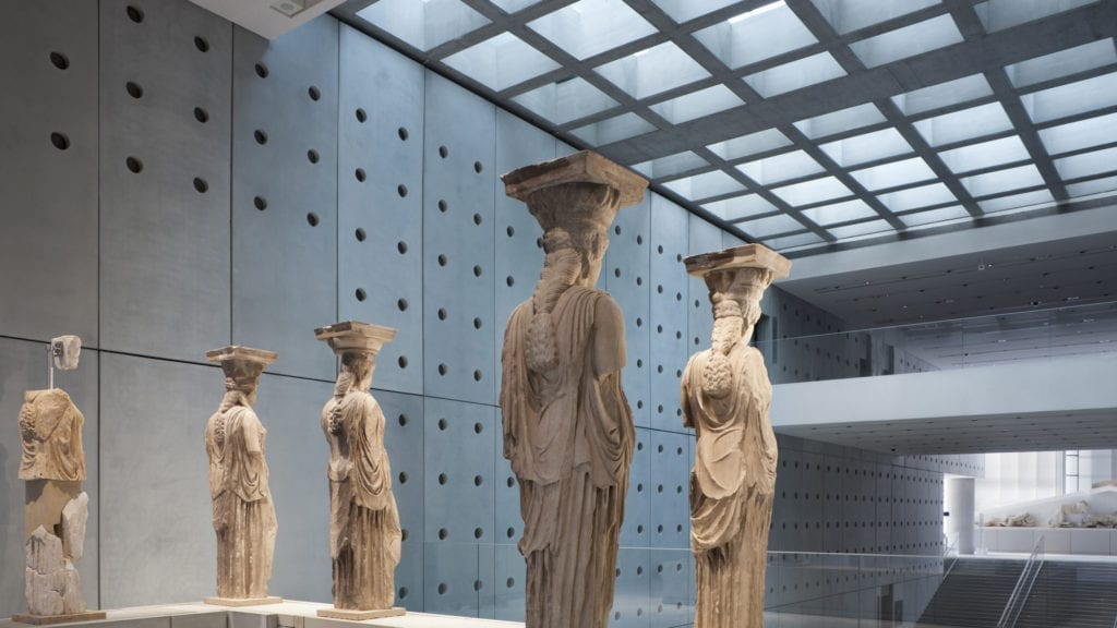 Karyatides statues at Acropolis Museum