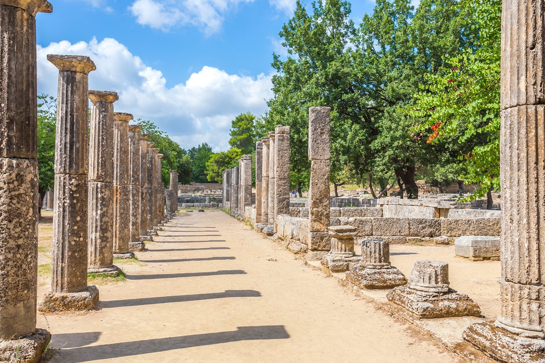 Ruins in Ancient Olympia