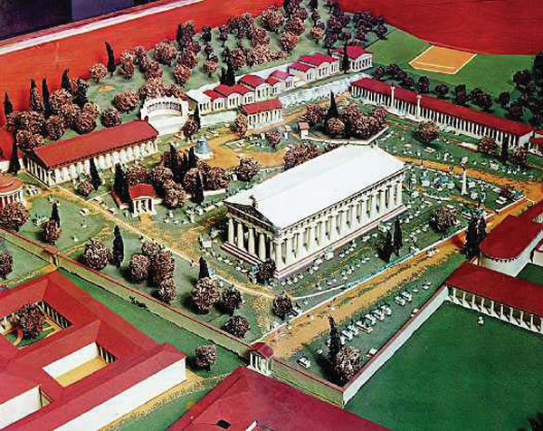 reconstruction of ancient Olympia