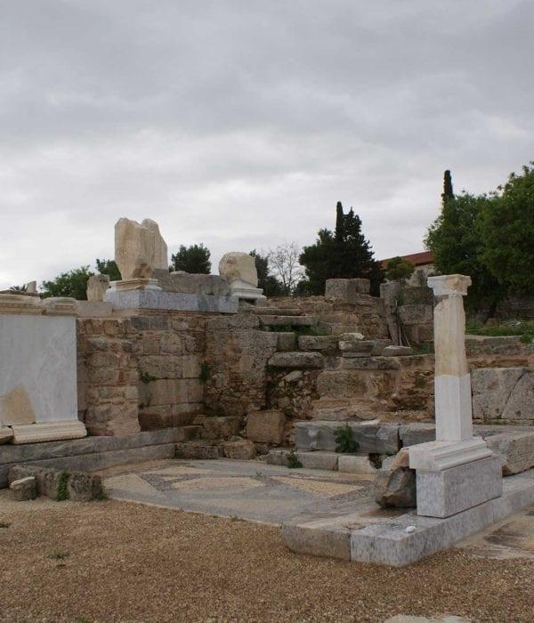 beema at ancient Corinth