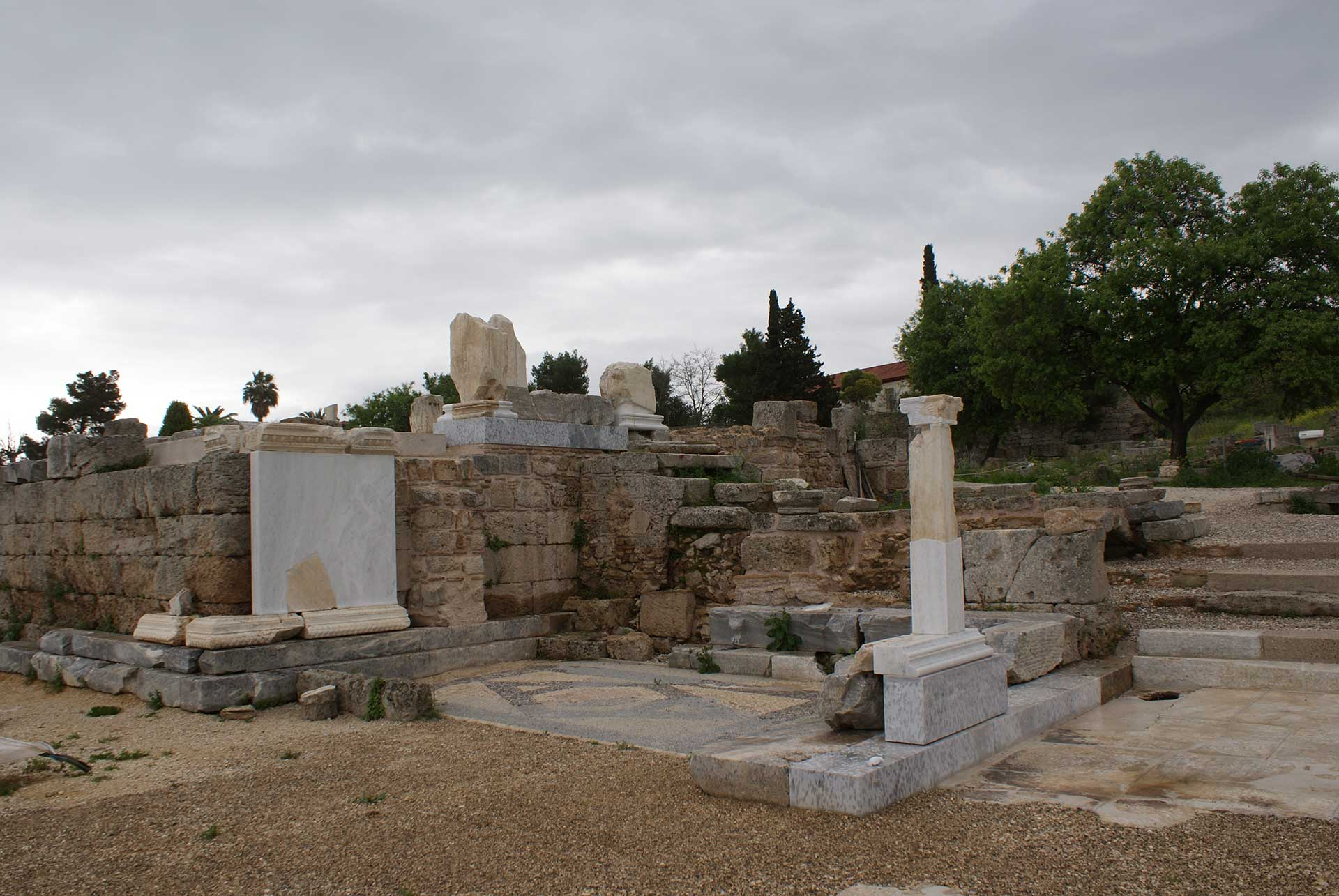 beema at ancient Corinth