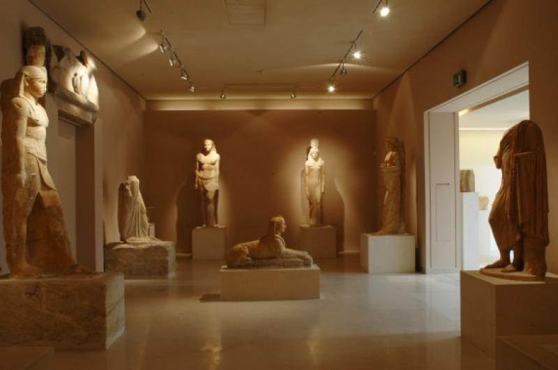 Egyptian collection inside the museum