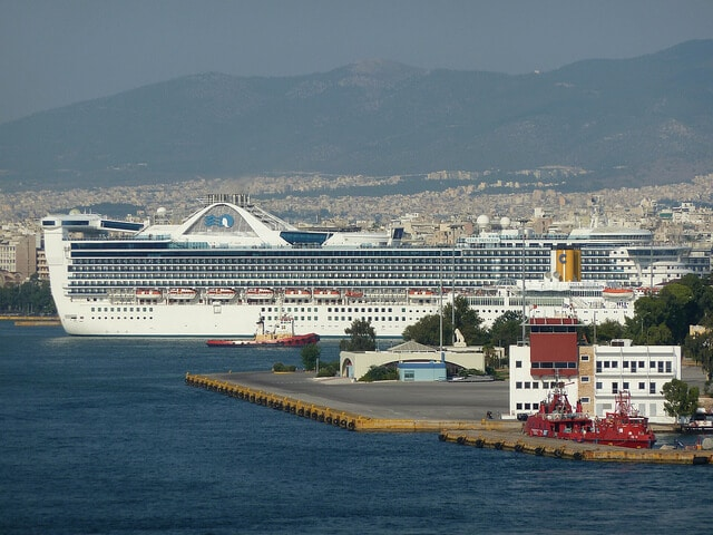 a cruise ship at piraeus cruise terminal