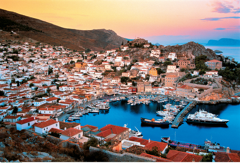 port of Hydra island